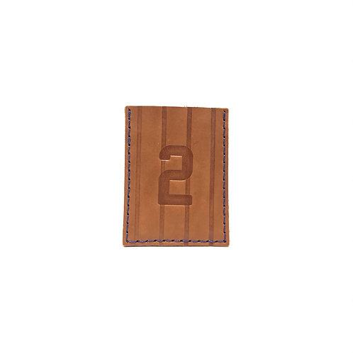 #2 HOF Player Pinstripe Leather Wallet