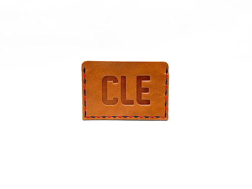"Cleveland ""CLE""  Leather Slide-In Wallet"