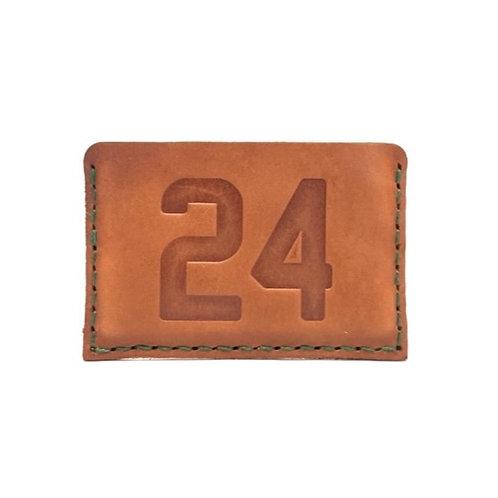 Custom Number Leather Slide-In Wallet