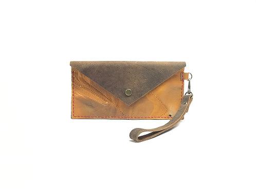 Women's Baseball Glove Leather Clutch Handbag