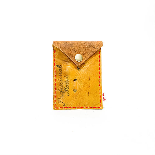 Baseball Glove Leather Snap Wallet