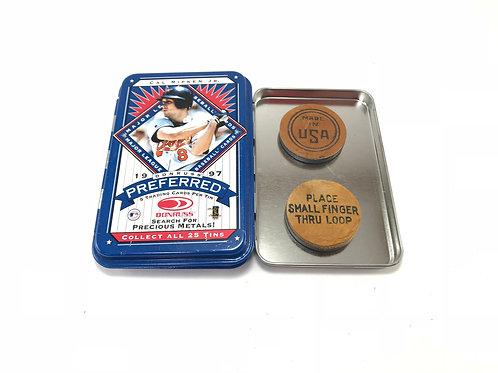 "Baseball Glove Leather Magnet Tin Set 1.5"""