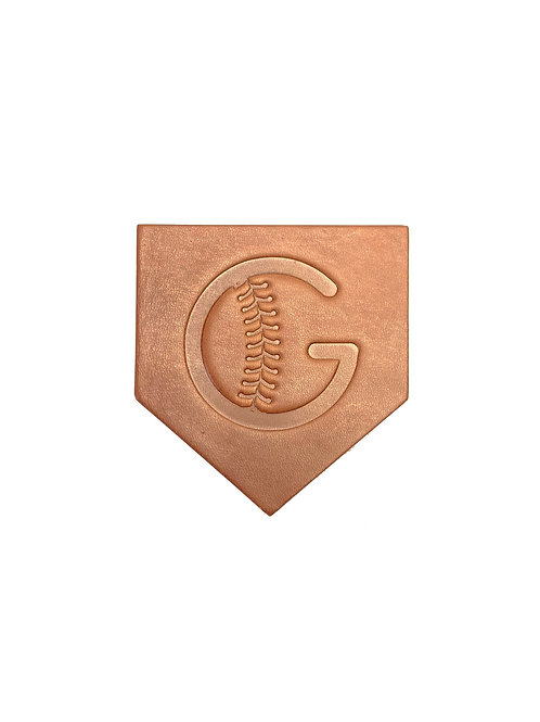 Grady's Logo Leather Homeplate Coasters - Set of 4