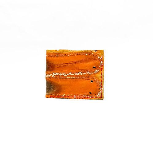 Baseball Glove Leather Billfold Wallet