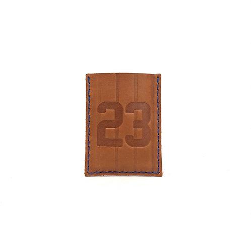 #23 HOF Player Pinstripe Leather Wallet