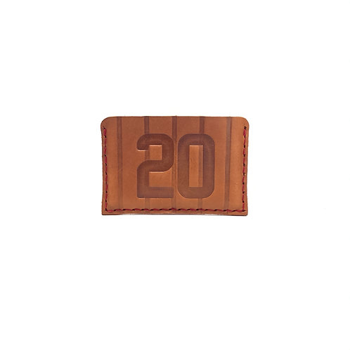 #20 HOF Player Pinstripe Leather Wallet