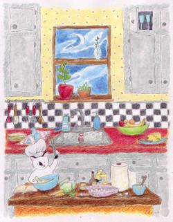 Petunia in the Kitchen