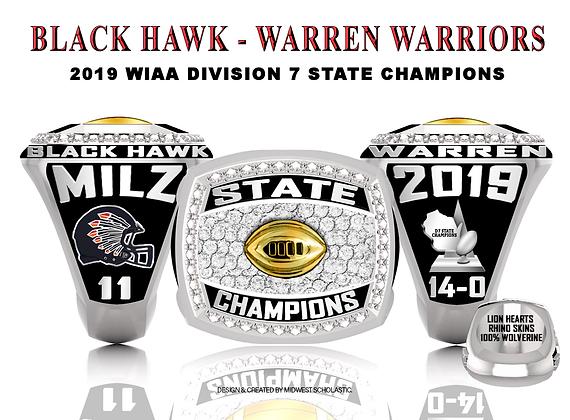 2019 Black Hawk - Warren Champ ring