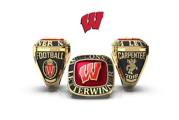 UW Letterwinner ring for women