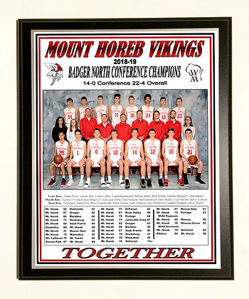 MH Badger North Conference Champs plaque