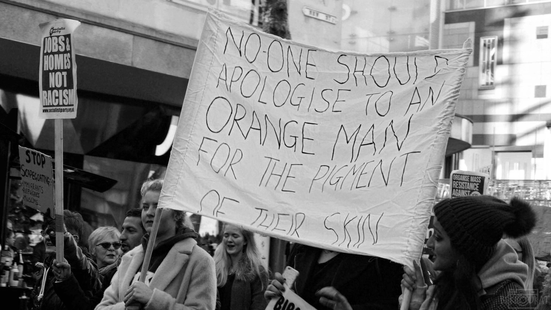 """""""No-one should apologise to an orange man for the pigment of their skin."""""""