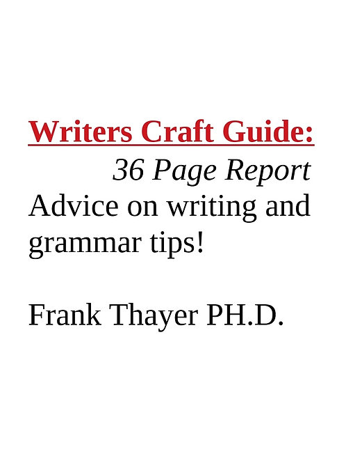 Writers Craft Guide 36 page Report!