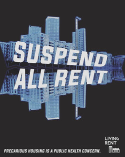 suspend all rent living rent coronavirus poster