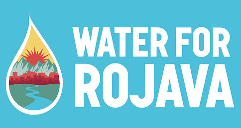 water for rojava banner cover
