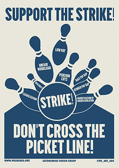 support the strike don't cross the picket line poster