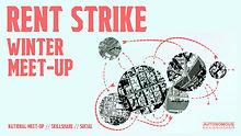 rent strike winter meet up poster