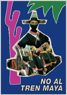 no al tren maya zapatistas ezln poster