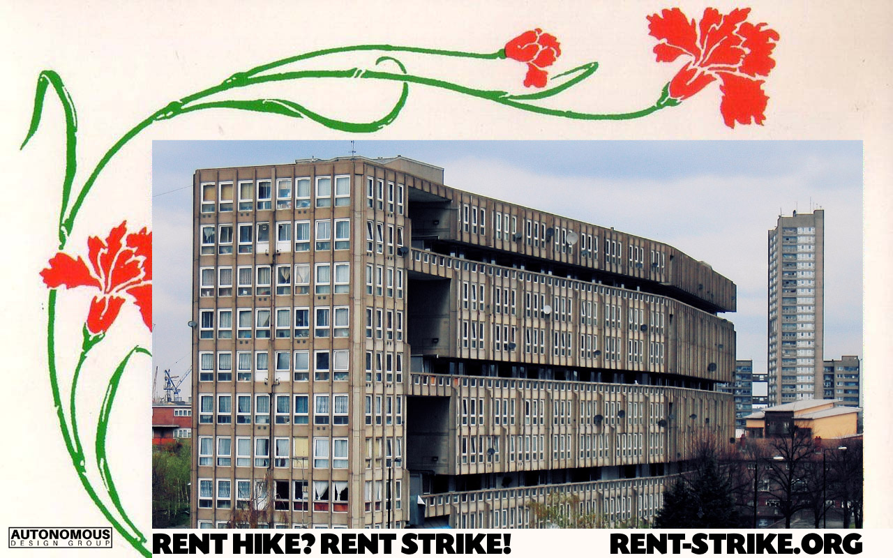 rent hike? rent strike!