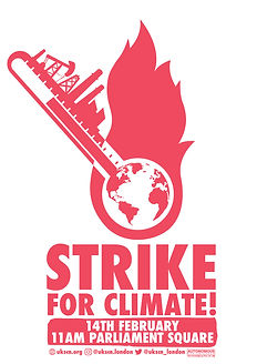 strike for climate poster