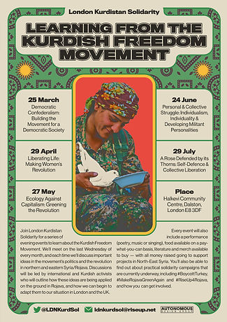 Learning From The Kurdish Freedom Movement Poster