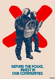 defund the police invest in our communities poster