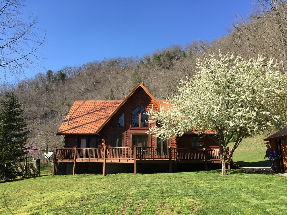 Springtime at Miller Cabins...Our Home and Office