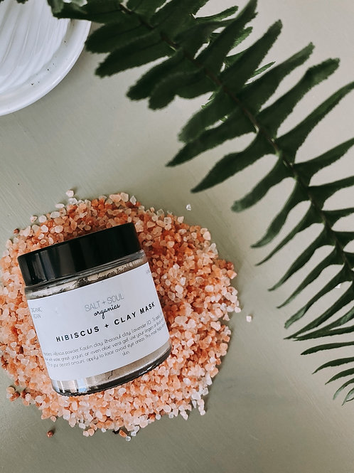 Hibiscus clay mask