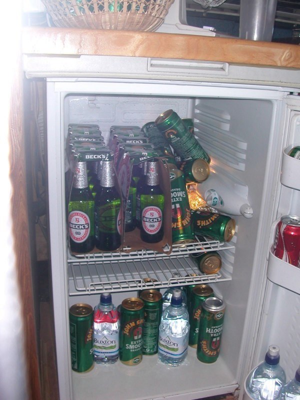 The Barclays bus fridge, normal?