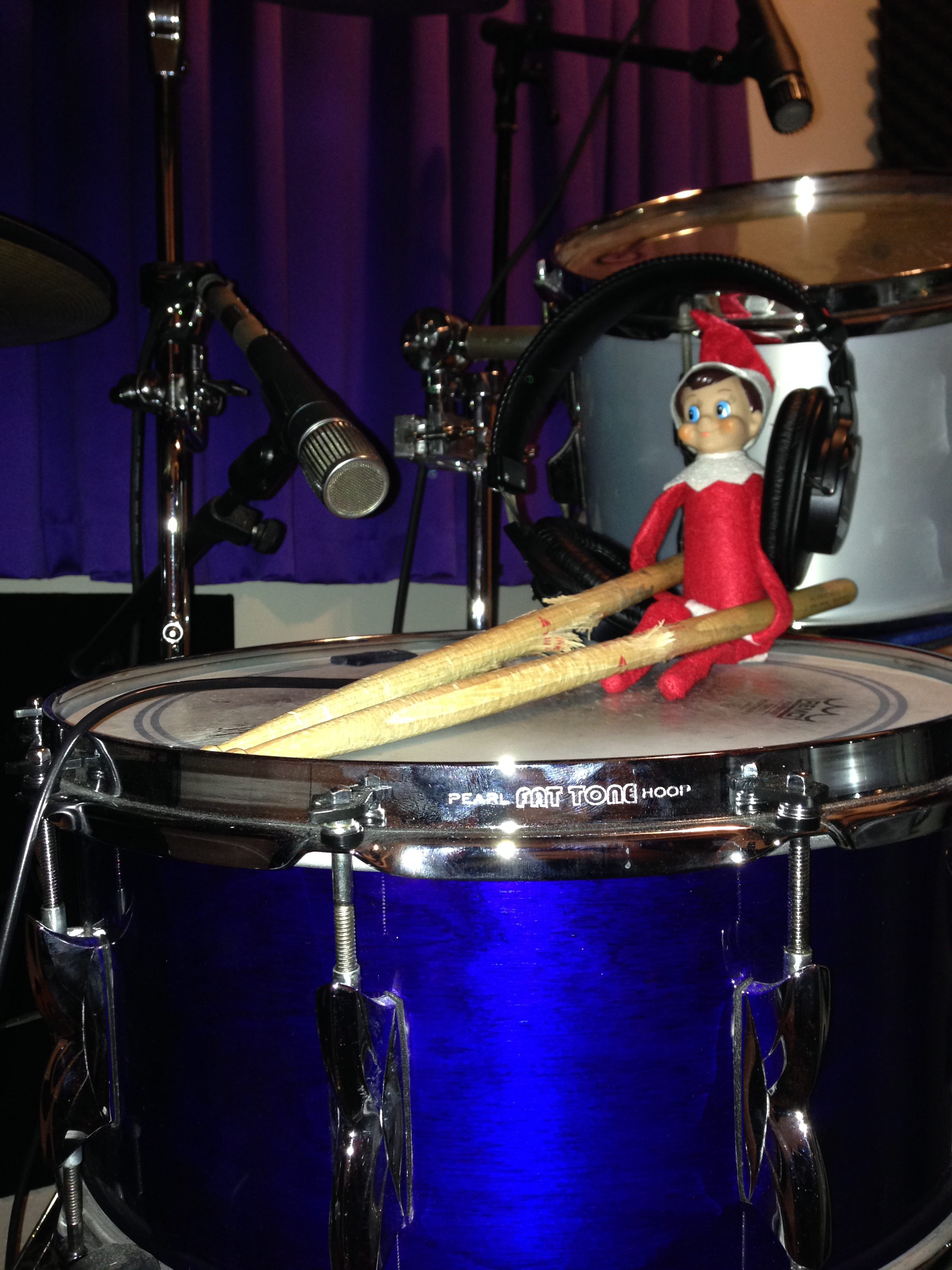 Elf on a drum shelf:)