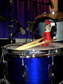 Elf on a drum shelf:)