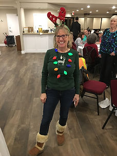 Friends holiday event 2018 kathy reindee