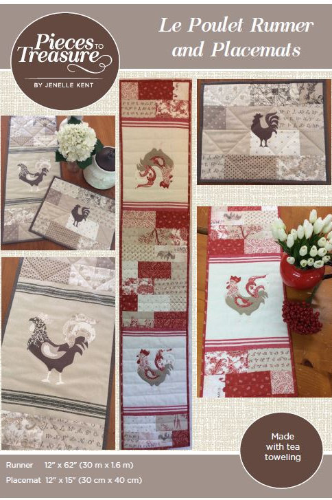 Pattern - Le Poulet Runner & Placemat PAPER