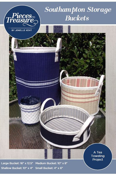 Pattern - South Hampton Storage Buckets PAPER