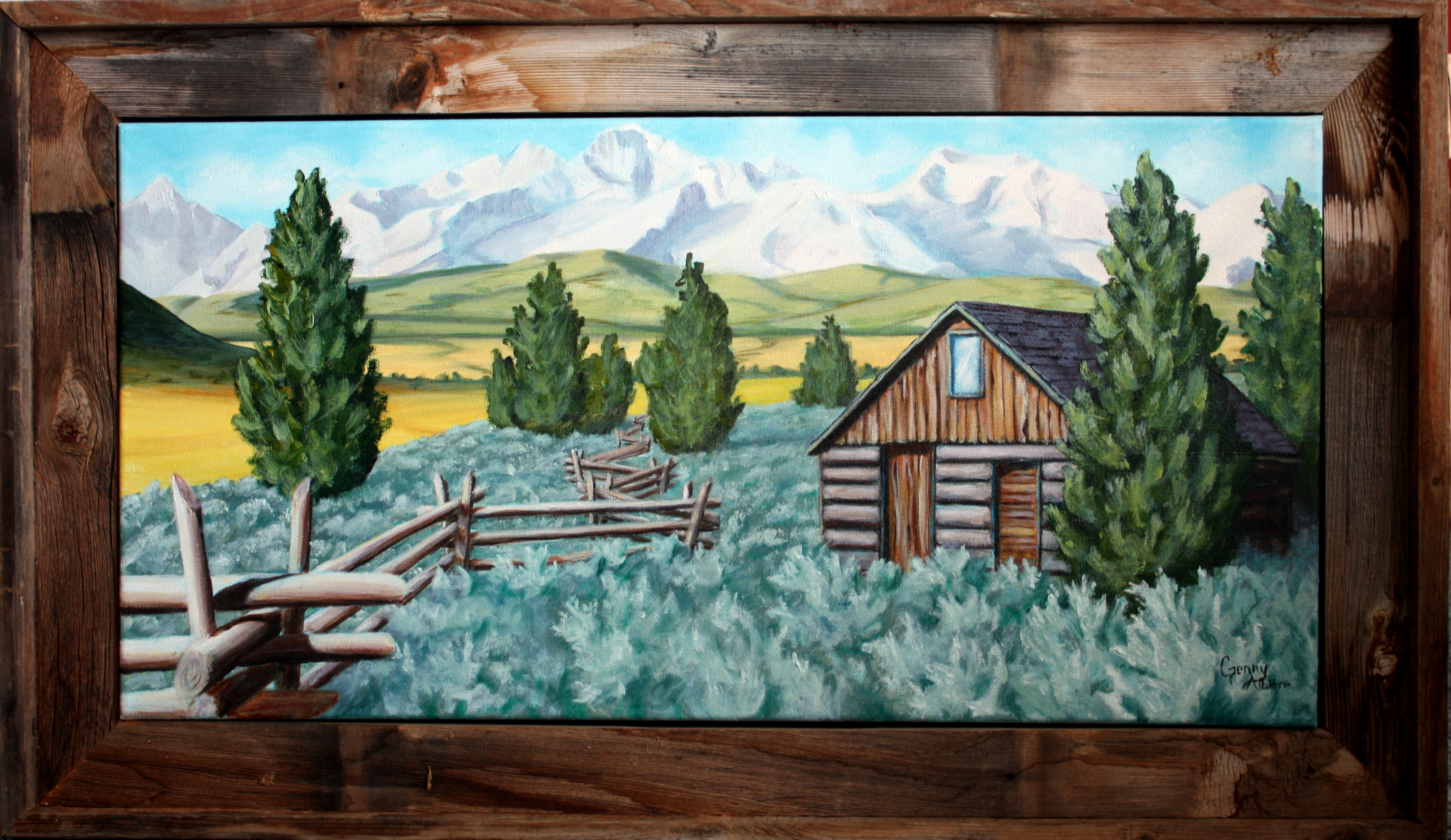 Sawtooth Cabin oil 15 x 30 2015.JPG