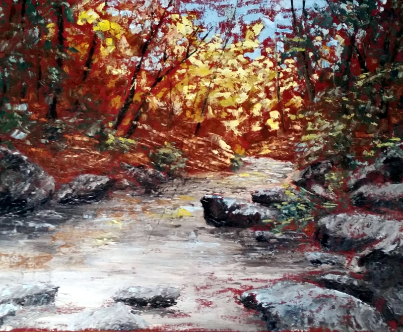 Palette Knife Lamoille Canyon   $250