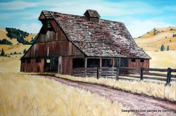 """Fallen Oregon Barn"""