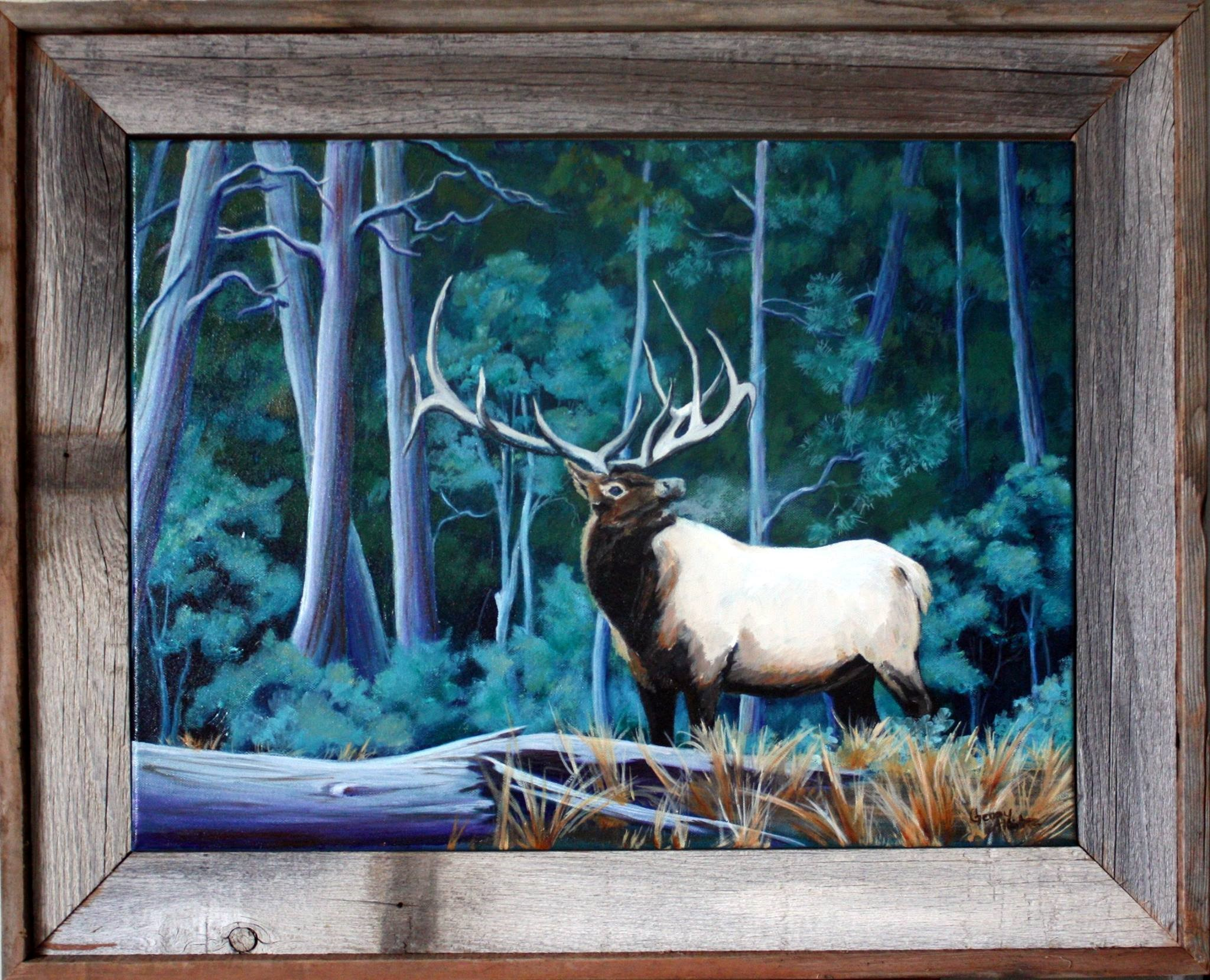 """Blue Elk""  SOLD"