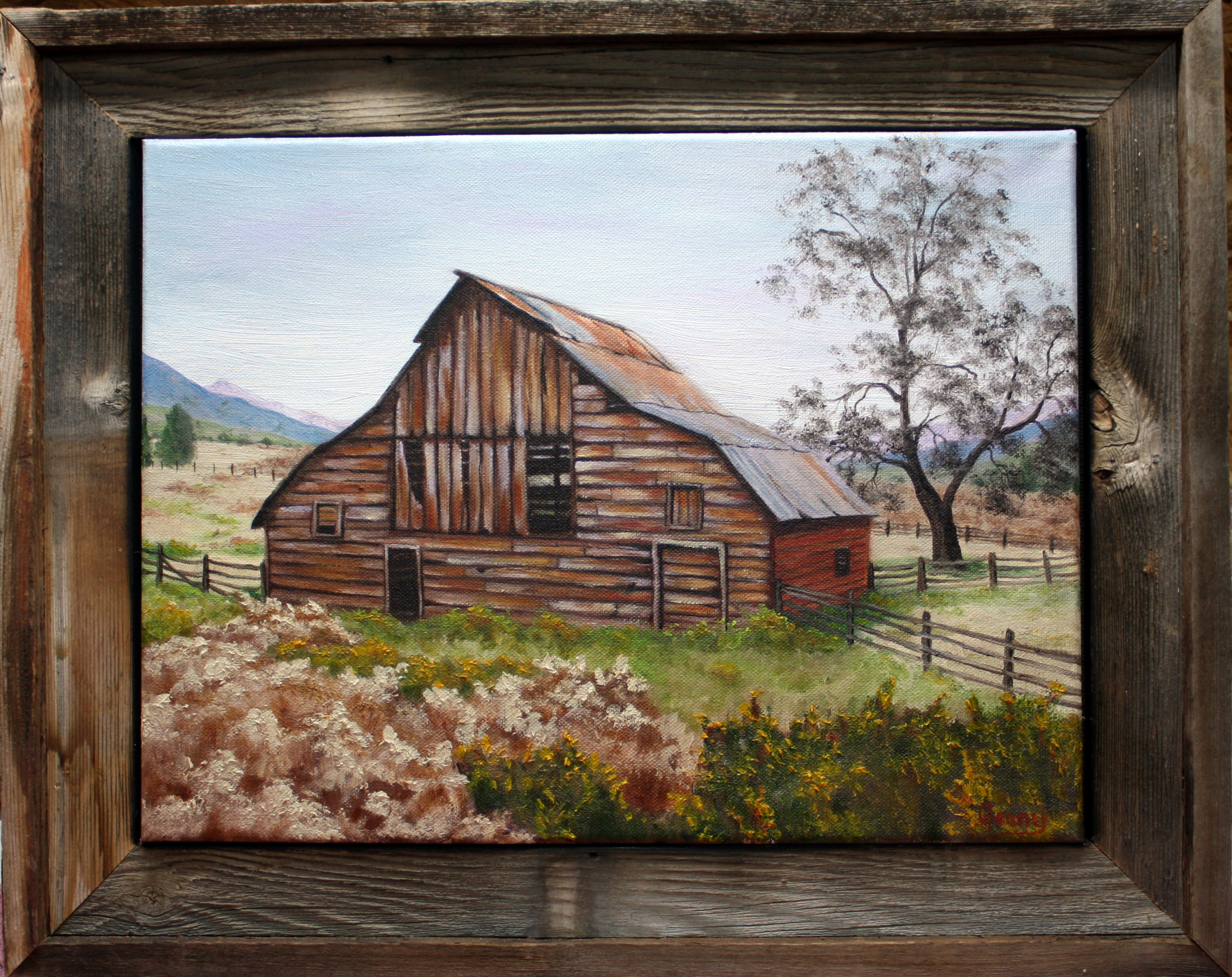 """Horseshoe Bend Idaho Barn""   SOLD"