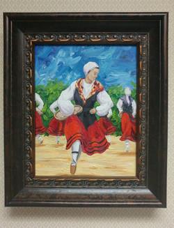 Basque Basket Dancer