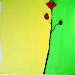 Red Flower 1    $50  SOLD