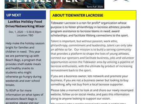 BIG NEWS about Tidewater Lacrosse