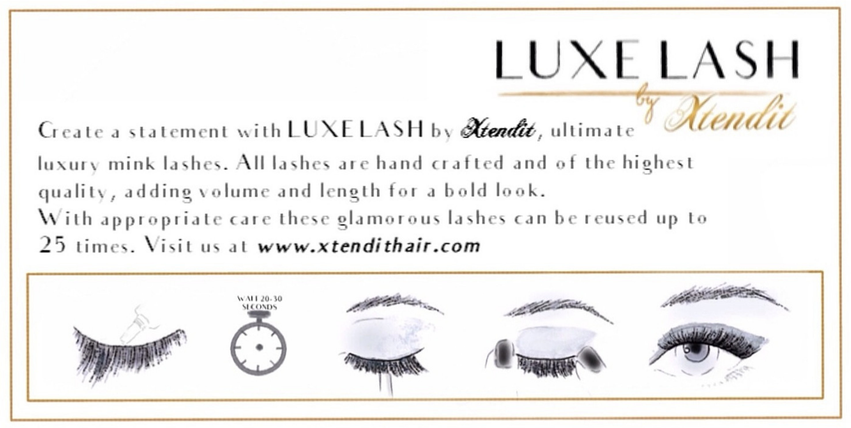 South west uk xtendit hair extensions luxe lash lola create a statement with luxe lash by xtendit ultimate luxury mink lashes all lashes are hand crafted adding volume and length for a bold look pmusecretfo Images
