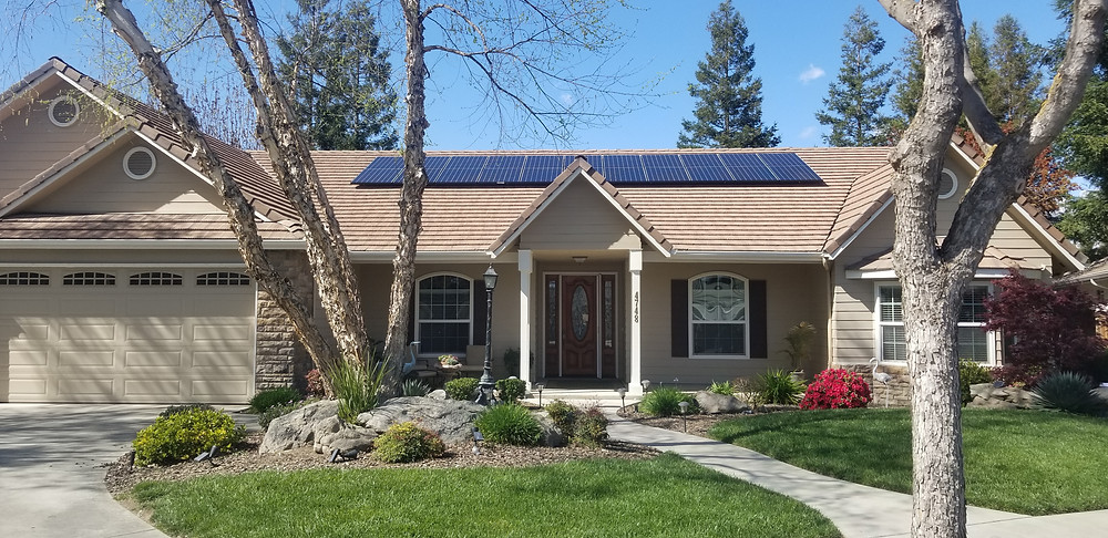 New Home with Solar in Fresno CA.