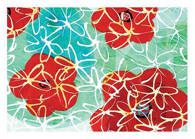 kunstkarte blume hochwertig DINA5
