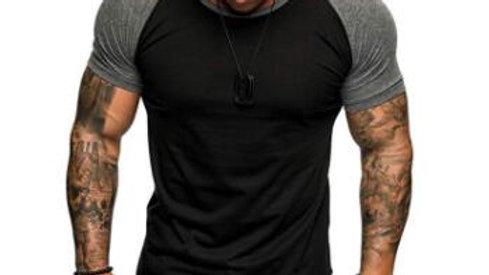 Summer Designer T Shirts Men Tops Patchwork Colors Solid T-Shirt Mens Clothing