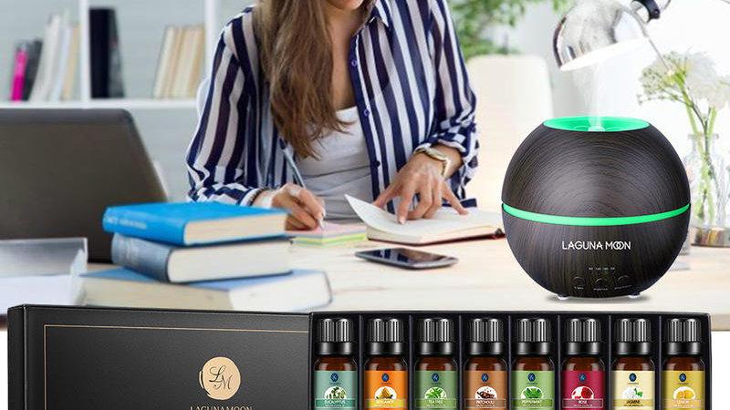 LAGUNAMOON 10ML 16PCS  Pure Essential Oils Set Relieve Stress Diffuser