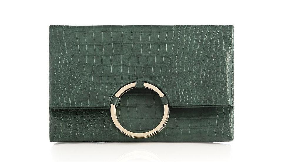 Carter Fold Clutch,Emerald