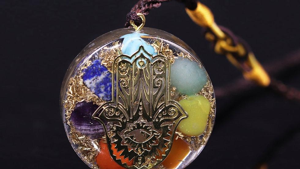 7 Chakra Necklace Reiki Energy Pendant