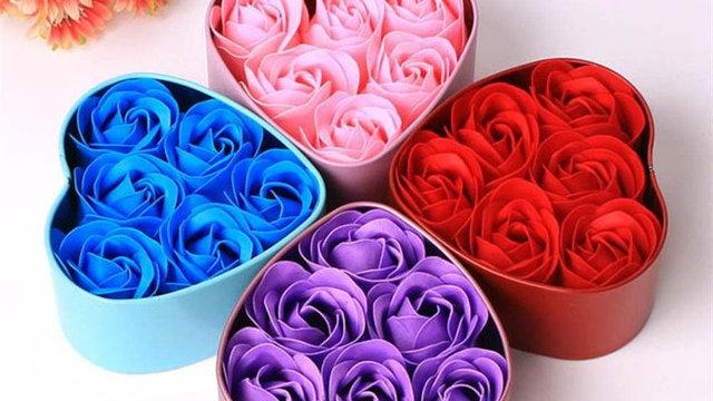 6pcs Heart Scented Bath Body Petal Rose Flower