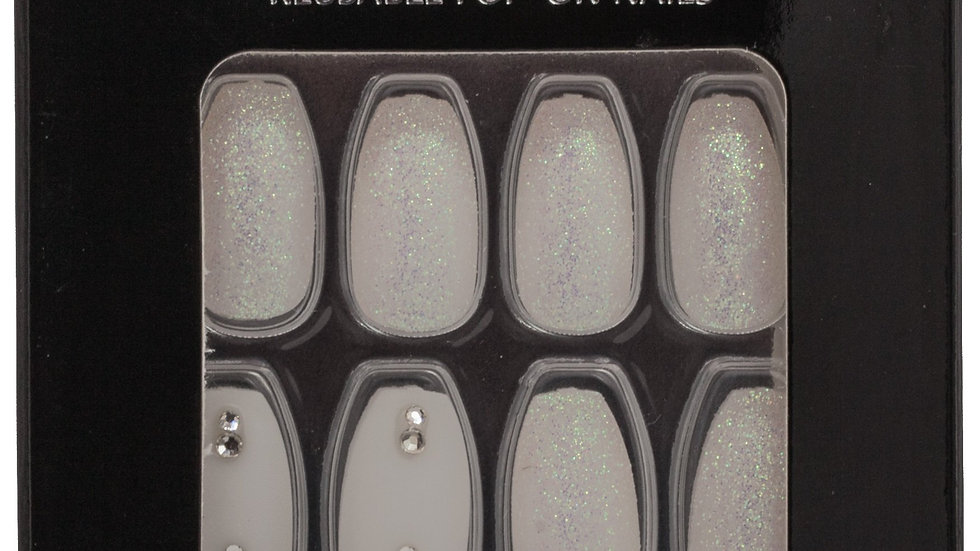 Wicked in White - Coffin Nails